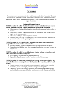 Georgia State Standards - Social Studies (9th to 12th grade)