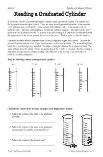 Reading a Graduated Cylinder Interactive http://www.enotes.com/documents/reading-graduated-cylinder-16953