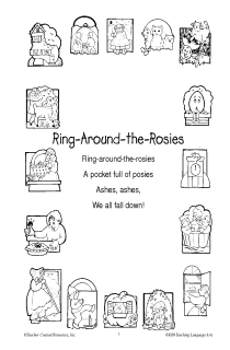 Ring Around The Roses Coloring Pages