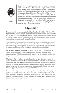 Fascinating Geography Facts: Myanmar