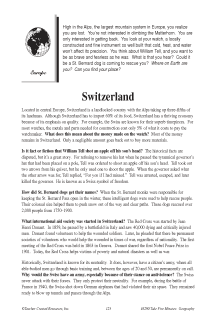 Fascinating Geography Facts: Switzerland