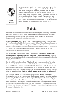 Fascinating Geography Facts: Bolivia