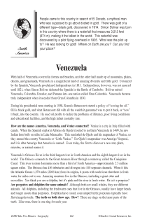 Fascinating Geography Facts: Venezuela
