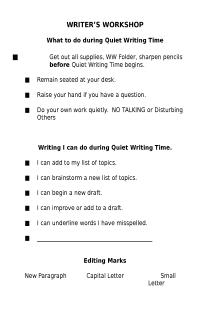 Writers' workshop guidelines