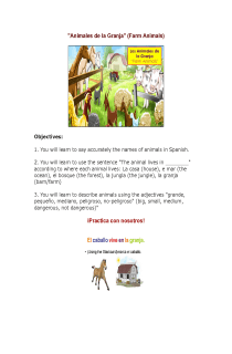 Animales de la Granja- Lesson using Smartboard