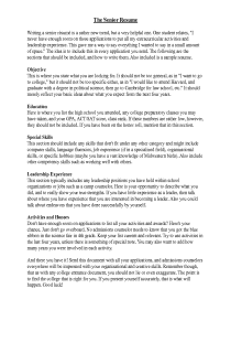 A Guide for Senior Resumes