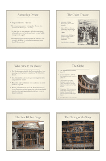 Elizabethan Era and Shakespeare Presentation in PDF - File 4 of 4
