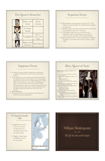 Elizabethan Era and Shakespeare Presentation in PDF - File 3 of 4 (LARGE FILE)