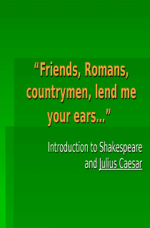 Julius Caesar Introduction Power Point