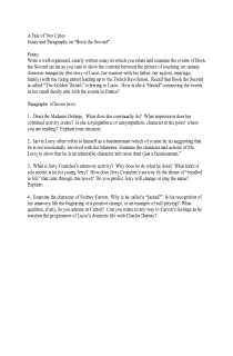 A Tale of Two Cities--Book II Essay Topics
