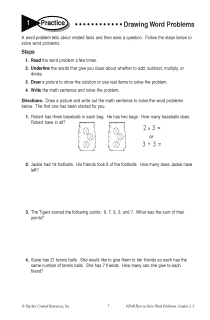 Drawing Word Problems