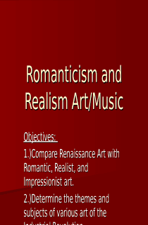 Romanticism and Realism Art Power Point