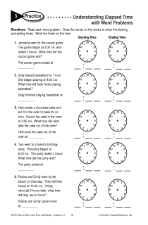 Understanding Elapsed Time with Word Problems Practice 3
