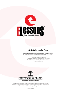 Raisin in the Sun, A - Psychoanalytic/Freudian Approach