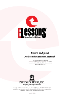 Romeo and Juliet - Psychoanalytic/Freudian Approach