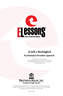 To Kill a Mockingbird - Psychoanalytic/Freudian Approach