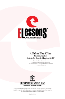 Tale of Two Cities, A - Characterization - Activity for Book 2 Chapters 10-13