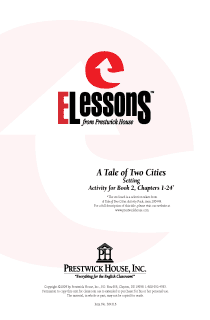 Tale of Two Cities, A - Setting - Activity for Book 2 Chapters 1-24