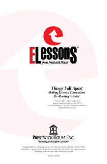 Things Fall Apart - Making Literary Connections - Pre-Reading Activity