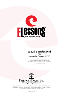 To Kill a Mockingbird - Plot - Activity for Chapters 12-31