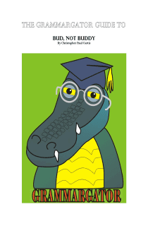 Bud Not Buddy - Grammargator Guide