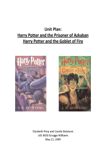 Harry Potter Unit Plan Books 3 and 4