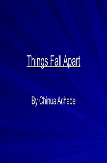Things Fall Apart: Introduction Powerpoint
