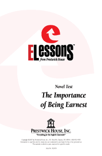 Importance of Being Earnest, The - Novel Test