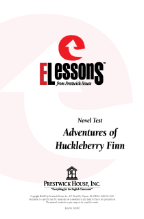 Adventures of Huckleberry Finn - Novel Test