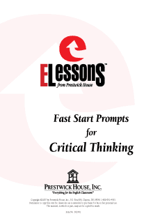 Fast Start Prompts for Critical Thinking