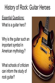 Guitar Hero Literary Criticism Power Point Project