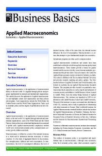 Applied Macroeconomics