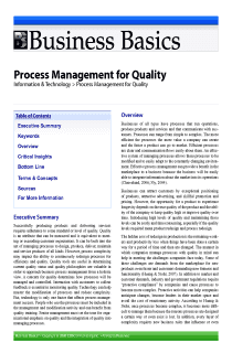Process Management for Quality