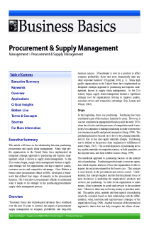 Procurement & Supply Management