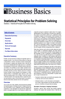 Statistical Principles for Problem Solving