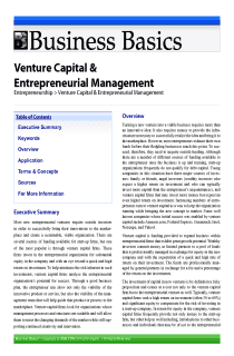 Venture Capital & Entrepreneurial Management