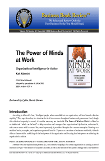 The Power of Minds at Work - Book Summary