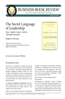 The Secret Language of Leadership - Book Summary