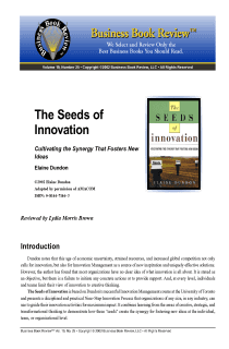 The Seeds of Innovation - Book Summary