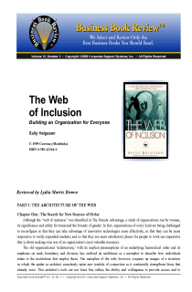 The Web of Inclusion - Book Summary