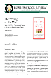 The Writing on the Wall - Book Summary