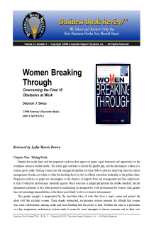 Women Breaking Through - Book Summary