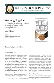 Working Together - Book Summary