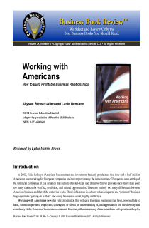 Working with Americans - Book Summary