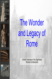 The Legacy of Rome, Powerpoint Lecture
