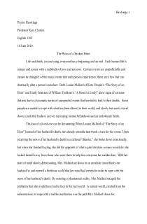 The Story of an Hour Kate Chopin Essay