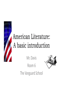Intro to American Lit.