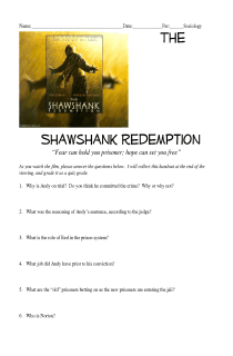 Shawshank Redemption Movie Questions