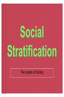 Social Stratification, Lecture