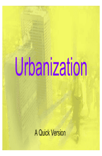 Urbanization